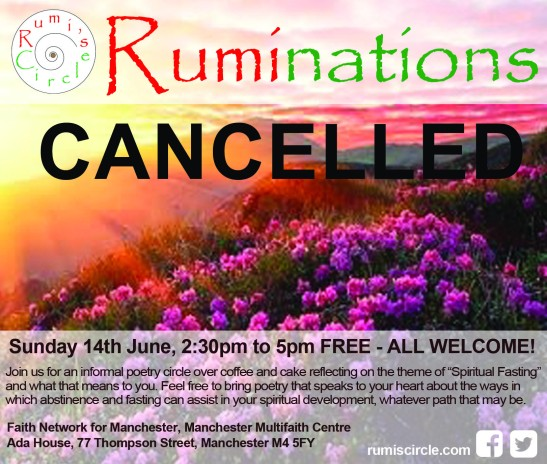 Ruminations spiritual fasting flowers CANCELLED